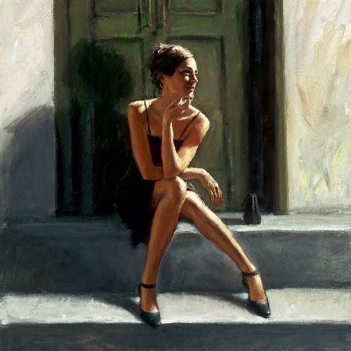 Image: Waiting for the Romance to Come Back - Lucy by Fabian Perez   Limited Edition on Canvas